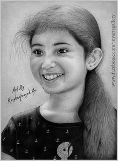 My New Art Work Portrait Of #Baby #Sara #Arjun :)#GREAT BLOGGER
