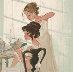 Pride and Prejudice- Elizabeth and Jane artwork Character Inspiration, Character Art, Animation, Pretty Art, Art Inspo, Art Reference, Amazing Art, Fanart, Art Drawings