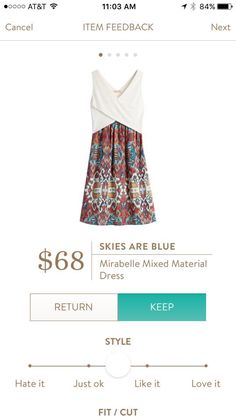 Stitch Fix Skies Are Blue Mirabelle Mixed Material Dress