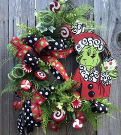 Christmas Wreath Christmas Decor Christmas Door by BaBamWreaths