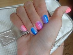Coloured nails - semilac