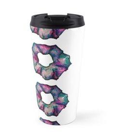 'Nebula 1 Scrunchie' Travel Mug by AElenaS Transparent Stickers, Glossier Stickers, Mug Designs, Sell Your Art, Scrunchies, Travel Mug, Mugs, Prints, Tumblers