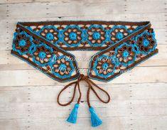 OutstandingCrochet tarafından Püsküller Pattern ile tığ Kravat Kemer