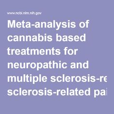 Meta-analysis of cannabis based treatments for neuropathic and multiple sclerosis-related pain. - PubMed - NCBI