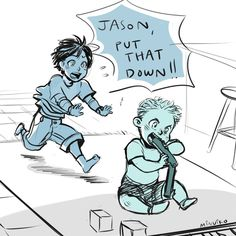 I bet this is EXACTLY what happened! - baby Jason and big sis Thalia