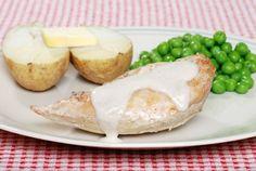 Morčacie prsia v smotanovej omáčke Baked Potato, Potatoes, Baking, Ethnic Recipes, Food, Potato, Bakken, Essen, Meals