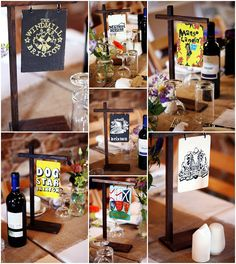Brixton table centrepieces
