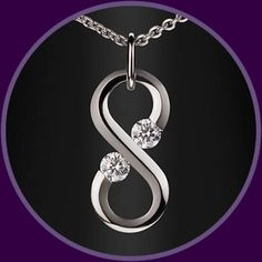 I'm not big on the infinity sign, but I kind of like this. Infinity Love, Infinity Signs, Infinity Charm, Infinity Symbol, Jewlery, Jewelry Necklaces, Jewelry Accessories, Jewelry Design, Classy And Fabulous