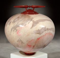 Kim Blatt Woodturning : Vessel Gallery One : Box Elder Vessel