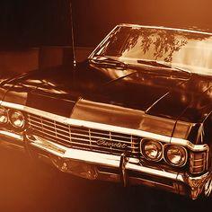 "1967 Chevy Impala sedan, aka ""Baby"", aka ""Metallicar"". \m/"