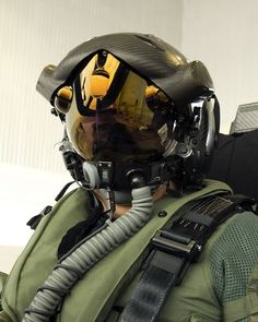 This helmet  works with cameras Mounted outside the airplane allowing him to have complete vision. If he looks down he will see virtually right through the plane.