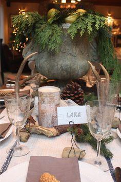 Beautiful rustic Christmas table