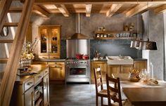 traditioneller küchen dekor - altmodischer herd