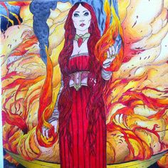 #gameofthrones #redwomen #melisandre #gameofthronescoloringbook #coloringbook #fire #lordoflight