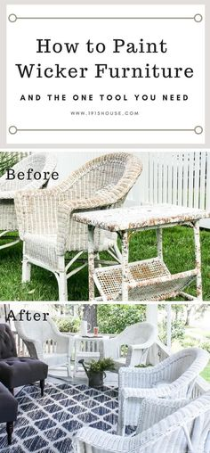 Update, paint, and protect your wicker furniture quickly and easily with these tips and tricks