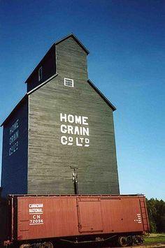 Home Grain Co. Grain Elevator at the Ukrainian...