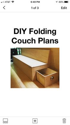 Plywood Furniture, Outdoor Furniture, Outdoor Decor, Folding Couch, Simple Life Hacks, Storage Chest, Design Ideas, House Design, How To Plan