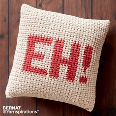 JOANN Crochet Projects: Featuring easy and advanced crochet projects for kids and adults. Browse JOANN craft ideas and projects online. Crochet Pillow Patterns Free, Mug Rug Patterns, Free Crochet, Knitting Patterns, Free Pattern, Afghan Patterns, Square Patterns, Free Knitting, Crochet Cushions
