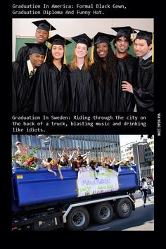 Funny pictures about Graduation In Sweden. Oh, and cool pics about Graduation In Sweden. Also, Graduation In Sweden photos. Funny Quotes, Funny Memes, Hilarious, Jokes, Wtf Funny, Welcome To Sweden, Funny Hats, Meanwhile In, Best Funny Pictures