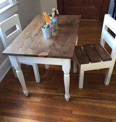Children's Farmhouse Table and chairs sold separately