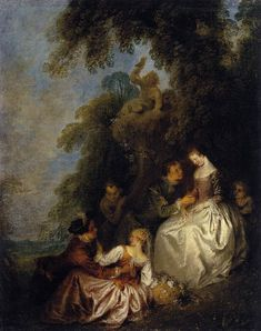 Conversation Galante by Jean Baptiste Joseph Pater France) Indianapolis Museum, Cleveland Museum Of Art, Museum Of Fine Arts, Art Museum, Norton Simon, Peoples Actions, Google Art Project, French Rococo, France Art
