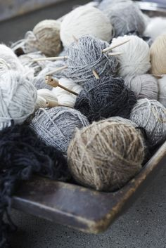 Wool in shades of gr