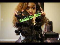 SnobLife Hair Unboxing| Brazilian Body Wave - YouTube
