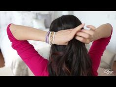 Wrapped half-up half-down hairstyle tutorial