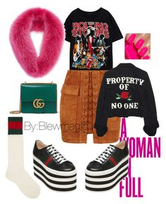 """Untitled #189"" by blewmagic on Polyvore featuring KAROLINA, Gucci, WithChic, High Heels Suicide and Alexander McQueen"