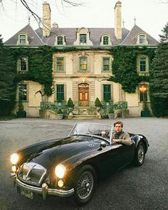 I don't know what I want to point out more, the car, the guy in the car, or the house!  HA!! Makes it difficult to find a place for it.