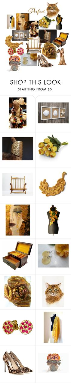 Unique Gifts on Etsy by anna-recycle on Polyvore featuring Jimmy Choo, Giallo, Cadeau, Crate and Barrel, modern, rustic and vintage