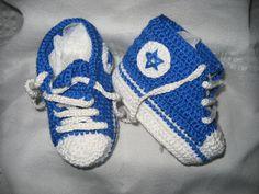 Zapatos de punto/ganchillo - Botitas deportivas para bebé - hecho a mano por PilarLR en DaWanda