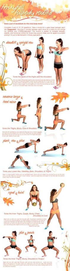 Tone it Up Frisky Fall Full Body Workout Tone It Up, Sport Fitness, Fitness Tips, Workout Fitness, Weight Lifting, Weight Loss, Lose Weight, Health And Wellness, Health Fitness