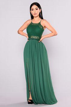5ab77a3ce1a20 Clara Backless Crochet Dress - Hunter. Black Tie GownCrochet Halter TopsCrochet  DressesFashion Nova ...