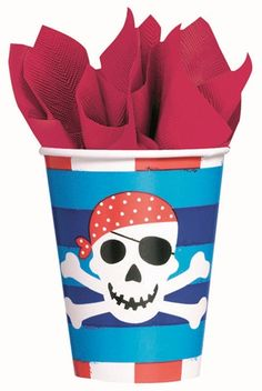 Pirate's Treasure 9 oz Cup|Fast Shipping|8 per package