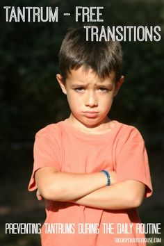 Help to prevent tantrums from your child during the everyday routine with these strategies to ease transitions from www.theinspiredtreehouse.com
