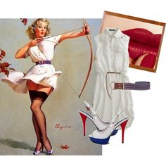 Aiming High Pin-Up inspired outfit
