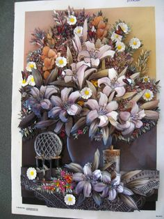 Decoupage Art, Ribbon Art, 3d Paper, Rice Paper, Shadow Box, Angles, Paper Flowers, 3 D, Make It Yourself