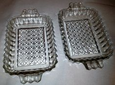 Pair of Vintage Cut Glass Serving Dishes by NanasAtticFairy, $15.00