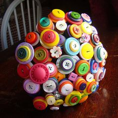 Beyond the Boutonniere: Button bouquet!