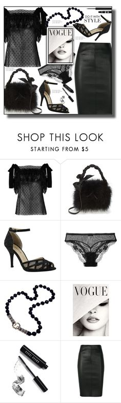 """Annifrid"" by paperdolldesigner ❤ liked on Polyvore featuring Philosophy di Lorenzo Serafini, Frances Valentine, J.Reneé, La Perla, Bobbi Brown Cosmetics, NYX, Drome and allblackoutfit"