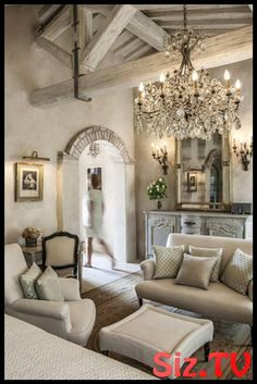 If you are looking for French Country Living Room Design Ideas, You come to the right place. Below are the French Country Living Room Design Ideas. This post about French Country Living Room Design Id. French Country Bedrooms, French Country Living Room, Bedroom Country, Country Interior, Bedroom Rustic, Farmhouse Interior, Gray Bedroom, Master Bedroom, Tuscan Decorating
