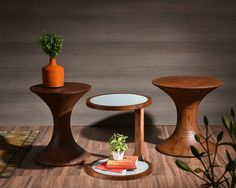 These stylish side tables are your personal bits of forest in your living room by Knock on Wood #KNW #stylish #furniture #design #Interior