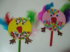 Maro's kindergarten: Colorful Easter chicks craft!