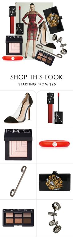"""""""this is it"""" by annabellispeterson ❤ liked on Polyvore featuring Gianvito Rossi, NARS Cosmetics, Adolfo Courrier, Repossi and Edie Parker"""