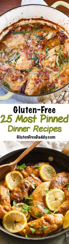 All these gluten-free dinner recipes have been pinned at least 50,000 times! They all look so good.