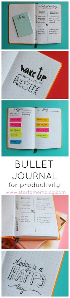 How to use a Bullet Journal for Productivity. Such pretty bullet journal spreads and gorgeous images. Unique ideas too! ♥