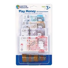 Build money recognition with this set of 60 realistic plastic play coins and notes. Approved by the HM treasury, pretend coins are almost actual size and feature the updated tails artwork. Reward Stickers, Number Stickers, Learning Resources, Fun Learning, Unicorn Phone Case, Cool Fidget Toys, Kids Room Furniture, Play Money, Melissa & Doug
