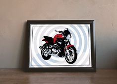 Moto Guzzi Breva 750 i.e. - Illustration by MSaHomeDesign on Etsy