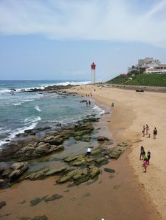 Umhlanga beachfront. Umhlanga is a residential, commercial and resort town north of Durban on the coast of KwaZulu-Natal, South Africa. (V)